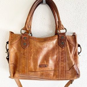 Frye Melissa Satchel Distressed Purse Bag